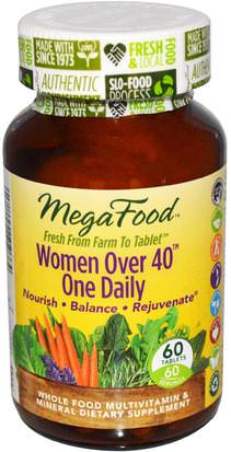 Vitaminas, Mujeres Multivitaminas, Mujeres MegaFood, Women Over 40 One Daily, 60 Tablets