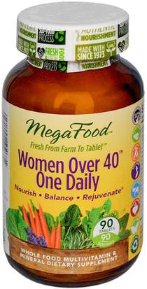 Vitaminas, Mujeres Multivitaminas, Mujeres MegaFood, Women Over 40 One Daily, 90 Tablets
