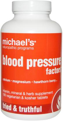 Salud, Presión Arterial Michaels Naturopathic, Blood Pressure Factors, 180 Veggie Tabs