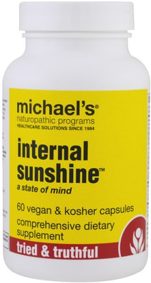Suplementos, Salud Michaels Naturopathic, Internal Sunshine, 60 Vegan & Kosher Capsules