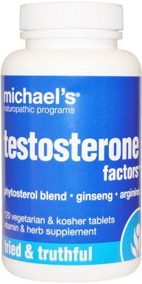 Salud, Hombres, Testosterona Michaels Naturopathic, Testosterone Factors, 120 Tablets