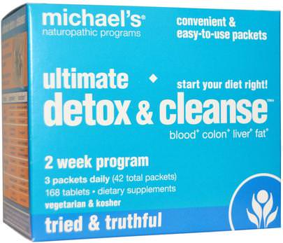 Salud, Desintoxicacion Michaels Naturopathic, Ultimate Detox & Cleanse, 42 Packets