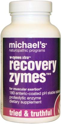 Suplementos, Enzimas, Enzimas Proteolíticas Michaels Naturopathic, W-Zymes Xtra, Recovery Zymes, 180 Enteric-Coated Tablets