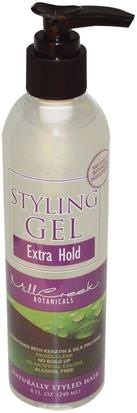 Baño, Belleza, Gel Para El Cabello Mill Creek, Styling Gel, Extra Body, 8 fl oz (240 ml)