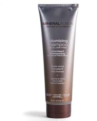 Baño, Belleza, Acondicionador De Argán Mineral Fusion, Minerals on a Mission, Volumizing Shampoo, 8.5 fl oz (250 ml)
