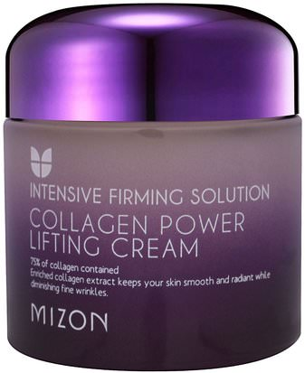 Baño, Belleza, Hueso, Osteoporosis, Colágeno Mizon, Collagen Power Lifting Cream, 2.53 oz (75 ml)