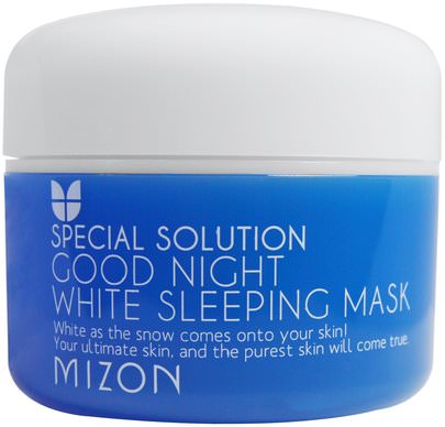Baño, Belleza, Máscaras Faciales Mizon, Special Solution, Good Night White Sleeping Mask, 2.70 fl oz (80 ml)