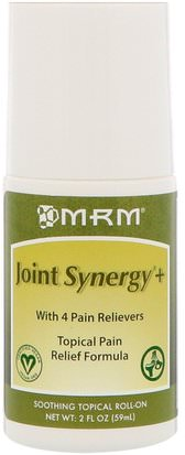 Salud, Hueso, Osteoporosis, Salud De Las Articulaciones MRM, Joint Synergy+, Soothing Topical Roll-On, 2 oz (59 ml)