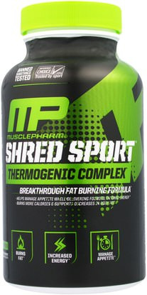 Salud, Energía MusclePharm, Shred Sport, Thermogenic Complex, 60 Capsules