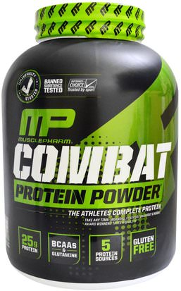 Suplementos, Proteína MusclePharm, Sport Series, Combat Protein Powder, Chocolate Milk, 4 lbs (1814 g)