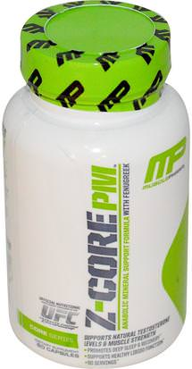 Deportes, Deporte, Hombres, Testosterona MusclePharm, Z-Core PM, Anabolic Mineral Support Formula, with Fenugreek, 60 Capsules