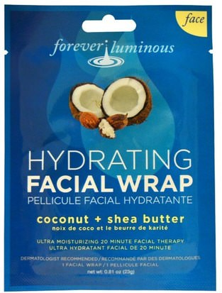 Belleza, Máscaras Faciales, Máscaras De Láminas, Cuidado Facial My Spa Life, Forever Luminous, Hydrating Facial Wrap, Face, 1 Facial Wrap, 0.81 oz (23 g)