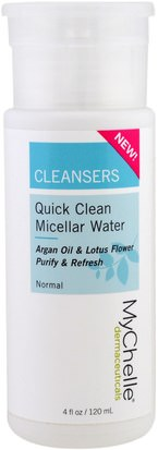 Belleza, Cuidado Facial MyChelle Dermaceuticals, Cleansers, Quick Clean Micellar Water, Normal, 4 fl oz (120 ml)