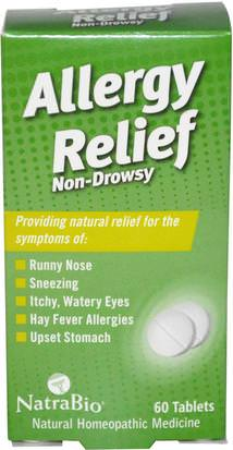 Salud, Alergias, Alergia NatraBio, Allergy Relief, Non-Drowsy, 60 Tablets