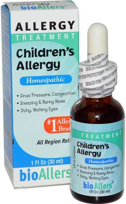 Salud, Alergias, Alergia NatraBio, BioAllers, Childrens Allergy, Allergy Treatment, 1 fl oz (30 ml)