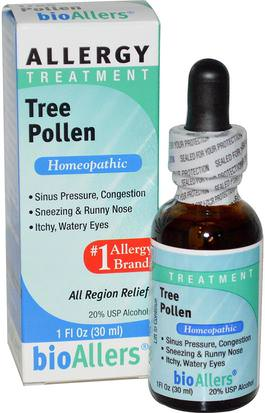 Suplementos, Homeopatía, Alergias, Alergia NatraBio, BioAllers, Tree Pollen, Allergy Treatment, 1 fl oz (30 ml)
