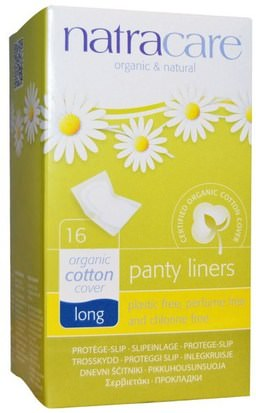 Salud, Mujer, Mujer Natracare, Organic & Natural Panty Liners, Long, 16 Liners