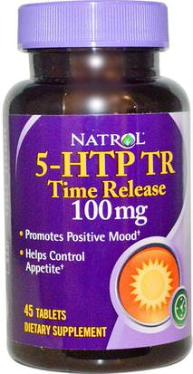 Suplementos, 5-Htp, 5-Htp 100 Mg Natrol, 5-HTP TR, Time Release, 100 mg, 45 Tablets