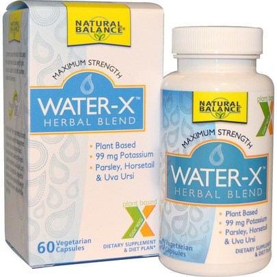 Salud, Dieta Natural Balance, Water-X, Herbal Blend, Maximum Strength, 60 Veggie Caps
