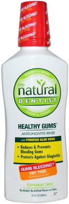 Baño, Belleza, Cuidado Dental Bucal, Enjuague Bucal Natural Dentist, Healthy Gums, Antigingivitis Rinse, Peppermint Twist, 16.9 fl oz (500 ml)