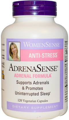 Suplementos, Suprarrenales Natural Factors, WomenSense, AdrenaSense, Adrenal Formula, 120 Veggie Caps