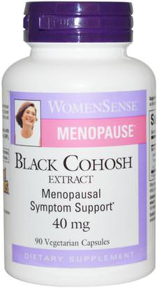 Salud, Mujeres, Cohosh Negro, Menopausia Natural Factors, WomenSense, Menopause, Black Cohosh Extract, 40 mg, 90 Veggie Caps