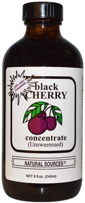 Alimentos, Café, Té Y Bebidas, Jugos De Fruta, Suplementos, Jugo De Cereza Negra Natural Sources, Black Cherry Concentrate, (Unsweetened), 8 fl oz (240 ml)