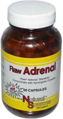 Suplementos, Suprarrenales, Productos Bovinos Natural Sources, Raw Adrenal, 60 Capsules