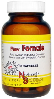 Suplementos, Productos Bovinos, Mujeres Natural Sources, Raw Female, 60 Capsules
