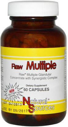 Suplementos, Productos Bovinos Natural Sources, Raw Multiple, 60 Capsules