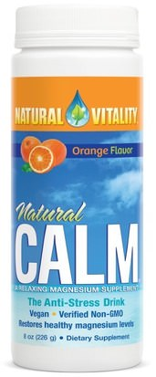 Suplementos, Minerales, Magnesio, Calma Natural Natural Vitality, Natural Calm, The Anti-Stress Drink, Orange Flavor, 8 oz (226 g)