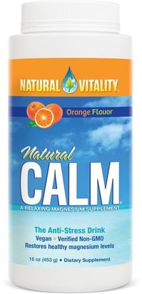 Suplementos, Minerales, Magnesio, Calma Natural Natural Vitality, Natural Calm, The Anti-Stress Drink, Organic Orange Flavor, 16 oz (453 g)