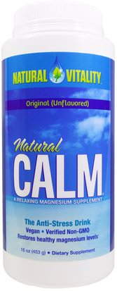 Suplementos, Minerales, Magnesio, Calma Natural Natural Vitality, Natural Calm, The Anti-Stress Drink, Original (Unflavored), 16 oz (453 g)