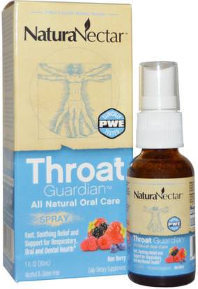 Salud, Gripe Fría Y Viral, Aerosol Para El Cuidado De La Garganta NaturaNectar, Throat Guardian Spray, Bee Berry, 1 fl oz (30 ml)