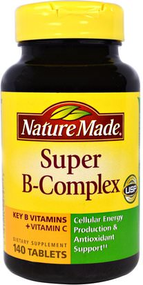 Vitaminas, Complejo De Vitamina B Nature Made, Super B-Complex, 140 Tablets