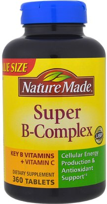 Vitaminas, Complejo De Vitamina B Nature Made, Super-B Complex, 360 Tablets