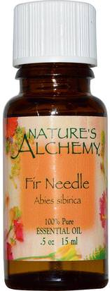 Baño, Belleza, Aceites Esenciales De Aromaterapia Natures Alchemy, Fir Needle, Essential Oil.5 oz (15 ml)