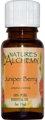 Baño, Belleza, Aceites Esenciales De Aromaterapia, Aceite De Enebro Natures Alchemy, Juniper Berry, Essential Oil, 0.5 oz (15 ml)