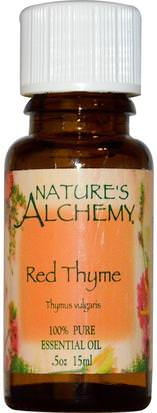 Baño, Belleza, Aceites Esenciales De Aromaterapia, Aceite De Tomillo Natures Alchemy, Red Thyme, Essential Oil.5 oz (15 ml)