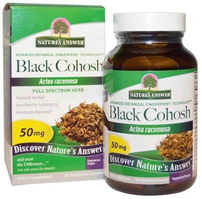 Salud, Mujeres, Cohosh Negro Natures Answer, Black Cohosh, Full Spectrum Herb, 50 mg, 90 Vegetarian Capsules