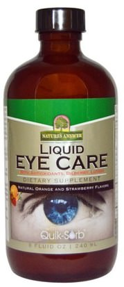 Salud, Cuidado De Los Ojos, Cuidado De La Visión, Visión Natures Answer, Liquid Eye Care, Natural Orange and Strawberry Flavors, 8 fl oz (240 ml)