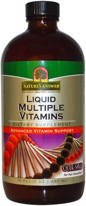 Vitaminas, Multivitaminas, Multivitaminas Líquidas Natures Answer, Liquid Multiple Vitamins, 16 fl oz (480 ml)