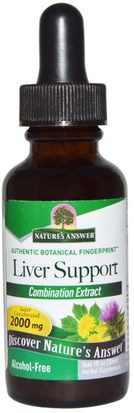 Salud, Apoyo Hepático Natures Answer, Liver Support, Alcohol-Free, 2000 mg, 1 fl oz (30 ml)