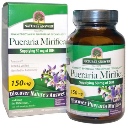 Salud, Mujeres Natures Answer, Pueraria Mirifica, 150 mg, 60 Vegetarian Capsules