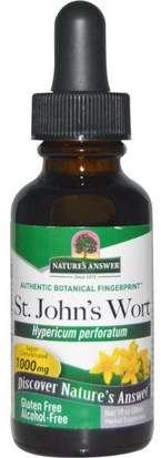 Hierbas, St. Johns Wort Natures Answer, St. Johns Wort, Alcohol-Free, 1000 mg, 1 fl oz (30 ml)