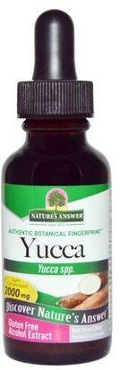 Hierbas, Yuca Natures Answer, Yucca, Alcohol Extract, 2000 mg, 1 fl oz (30 ml)