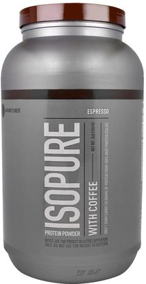 España Natures Best, IsoPure, Protein Powder with Coffee, Espresso, 3 lb (1361 g)