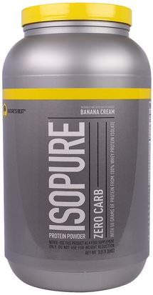 España Natures Best, IsoPure, Protein Powder, Zero Carb, Banana Cream, 3 lbs (1.36 kg)