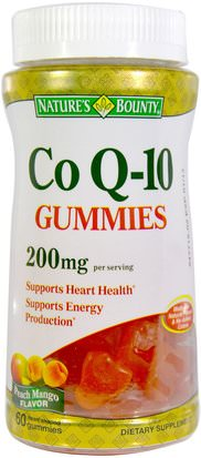 Productos Sensibles Al Calor, Suplementos, Gomitas Natures Bounty, Co Q10 Gummies, 200 mg, 60 Gummies