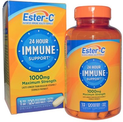 Vitaminas, Vitamina C, Bioflavonoides Éster C Natures Bounty, Ester-C, 1000 mg, 120 Veggie Coated Tablets